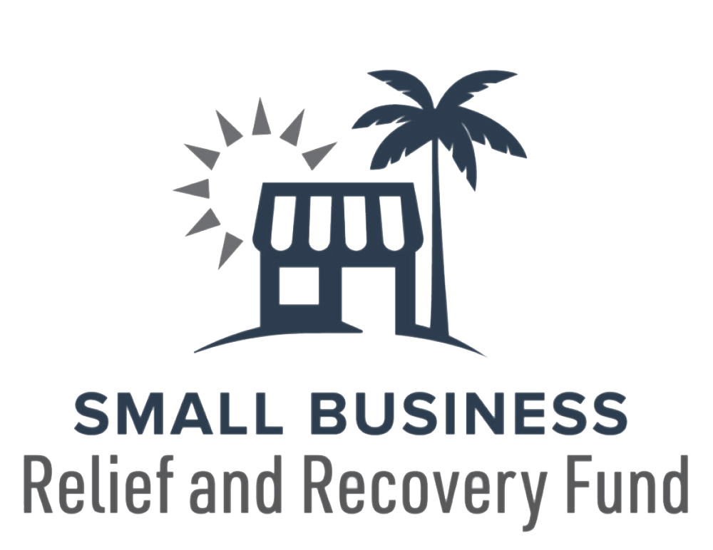 Small business relief and recovery fund logo.