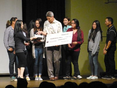 Mid-Pacific Institute's Girls Softball Team receives Life matters Award.